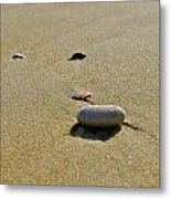 Stones In The Sand Metal Print