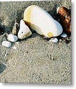 Stones On The Beach Metal Print