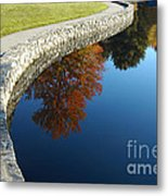 Stonewall And Autumn Reflections Metal Print