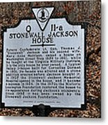 Stonewall Jackson House Metal Print by Todd Hostetter