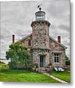 Stonington Lighthouse Museum Metal Print