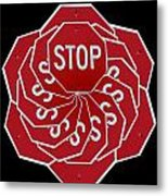 Stop Sign Kalidescope Metal Print