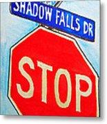 Stop Sign Sketchbook Project Down My Street Metal Print