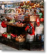 Store - Ny - Chelsea - Fresh Fruit Stand Metal Print by Mike Savad