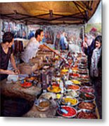 Storefront - The Open Air Tea And Spice Market  Metal Print