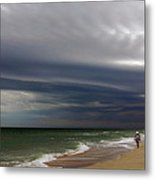 Storm Beach Metal Print by Barry Goble