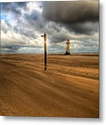 Storm Brewing Metal Print by Adrian Evans
