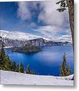 Storm Clearing At Crater Lake Metal Print
