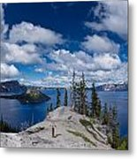 Storm Clearing From Discovery Point Metal Print