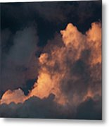 Storm Cloud Highlighted By Sun Metal Print