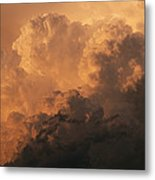 Storm Clouds Gather Over The Badlands Metal Print