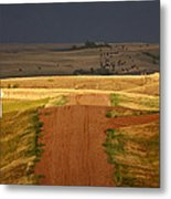 Storm Clouds In Saskatchewan Metal Print by Mark Duffy