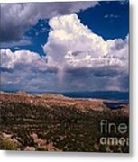 Storm Clouds Over Bandalier National Monument Metal Print by Donna Parlow