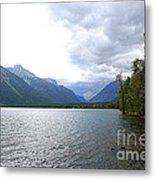 Storm Clouds Over Lake Mcdonald Metal Print