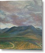 Storm Clouds Over the Ortiz Mountains Metal Print