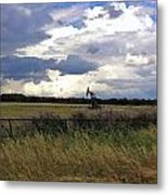 Storm Moving In Out West Metal Print