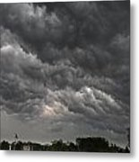Storm Over Baseball Metal Print