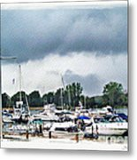 Storm Over Lake Erie Metal Print