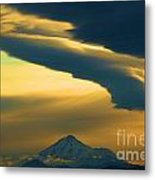 Storm Over Shasta Metal Print