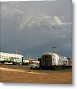 Storm Sky Over The Old Railyard Metal Print