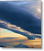 Storms Over Shasta Metal Print