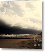 Stormy Beach At The Coast Of South Carolina Metal Print