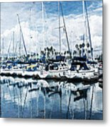 Stormy Blues Metal Print