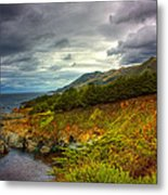 Stormy Coast Metal Print by Matt  Trimble