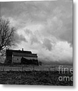Stormy Day On The Farm Metal Print