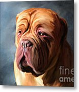 Stormy Dogue Metal Print