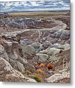 Stormy Morning At Petrified Forest  Metal Print
