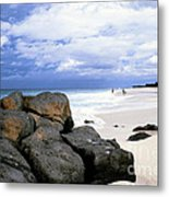 Stormy Sky Banzai Beach Metal Print by Thomas R Fletcher