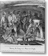 Stowing African Captives In A Slave Metal Print