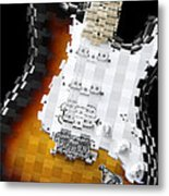Classic Guitar Abstract 2 Metal Print