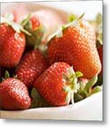 Strawberries Metal Print by Kim Fearheiley