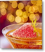 Strawberry And Champagne Metal Print by Kim Fearheiley