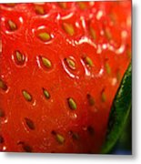 Strawberry Close Up Metal Print
