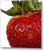 Strawberry Close Up No.0011 Metal Print