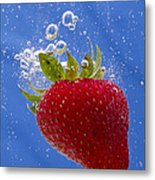 Strawberry Soda Dunk 3 Metal Print by John Brueske