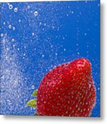 Strawberry Soda Dunk 4 Metal Print