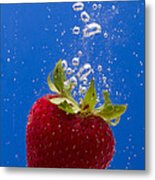 Strawberry Soda Dunk 5 Metal Print by John Brueske