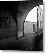 Streaking Car Visby Metal Print