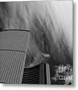Streaks And Puffs Over City Hall Metal Print