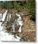 Streaming Glen Alpine Falls Metal Print