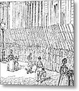 Street Advertising, 1842 Metal Print