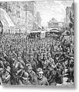 Street Car Strike, 1886 Metal Print