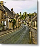 Street In Castle Combe Metal Print