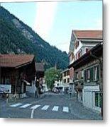 Street In Interlaken In Switzerland Metal Print