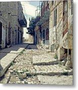 Street In Safed Metal Print