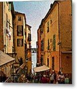Street In Villefranche II Metal Print
